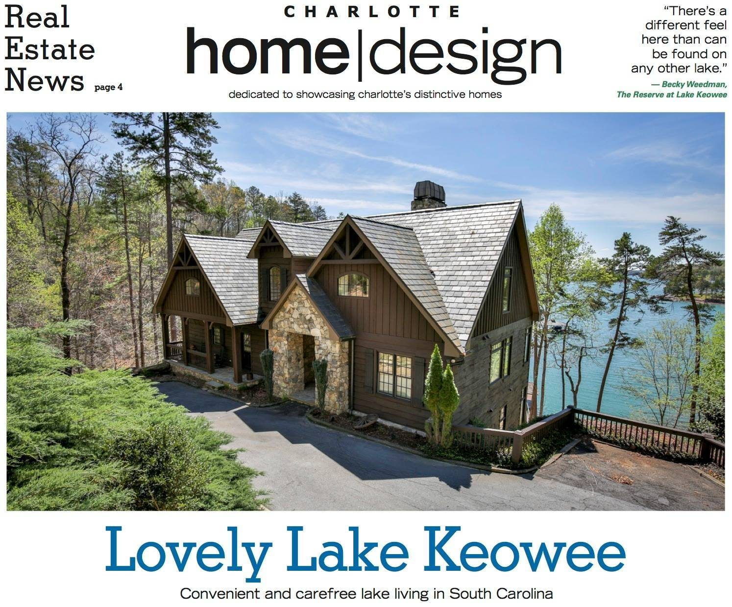 The Reserve at Lake Keowee featured in Charlotte Observer