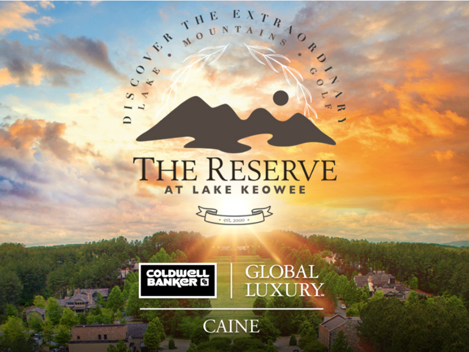 The Reserve at Lake Keowee Announce Strategic Sales and Marketing Partnership with Coldwell Banker Caine